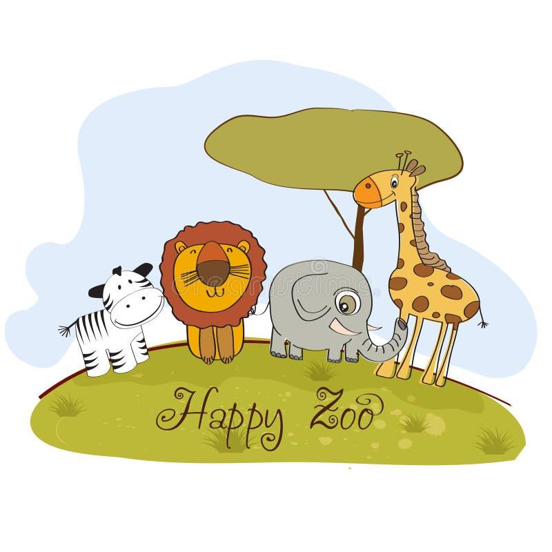 Glücklicher Zoo vektor abbildung