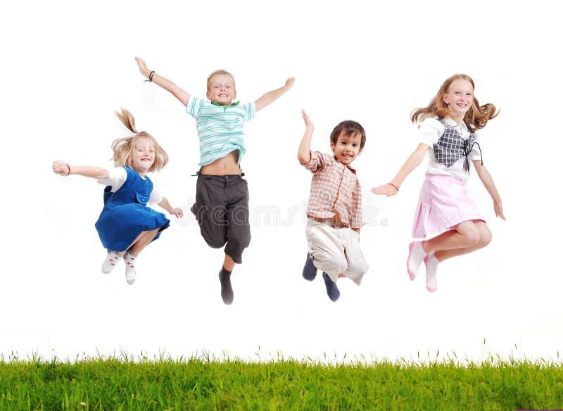 Glückliches akrobatisches Mädchen stockfoto