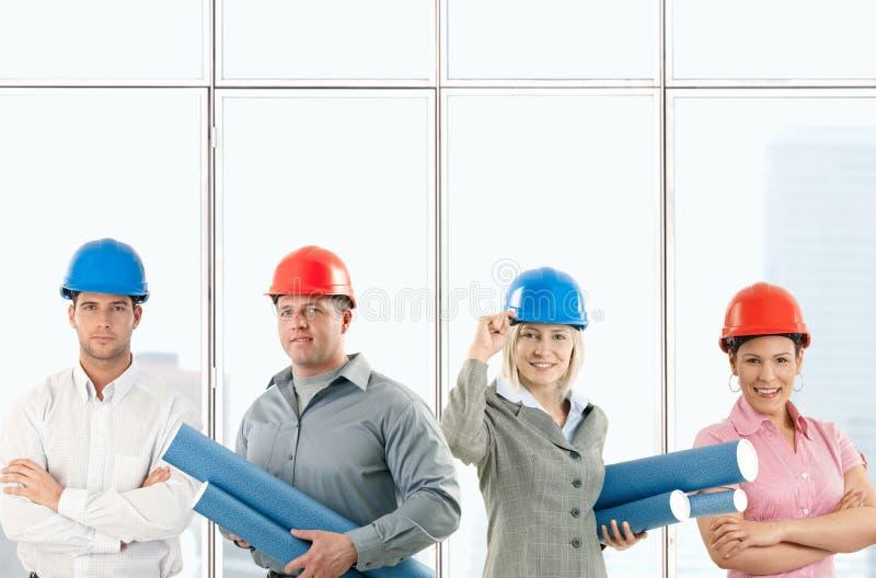 Glückliches Architektenteam lizenzfreies stockfoto