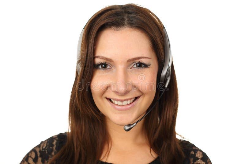 Glückliches callcenter Vertreter stockbilder