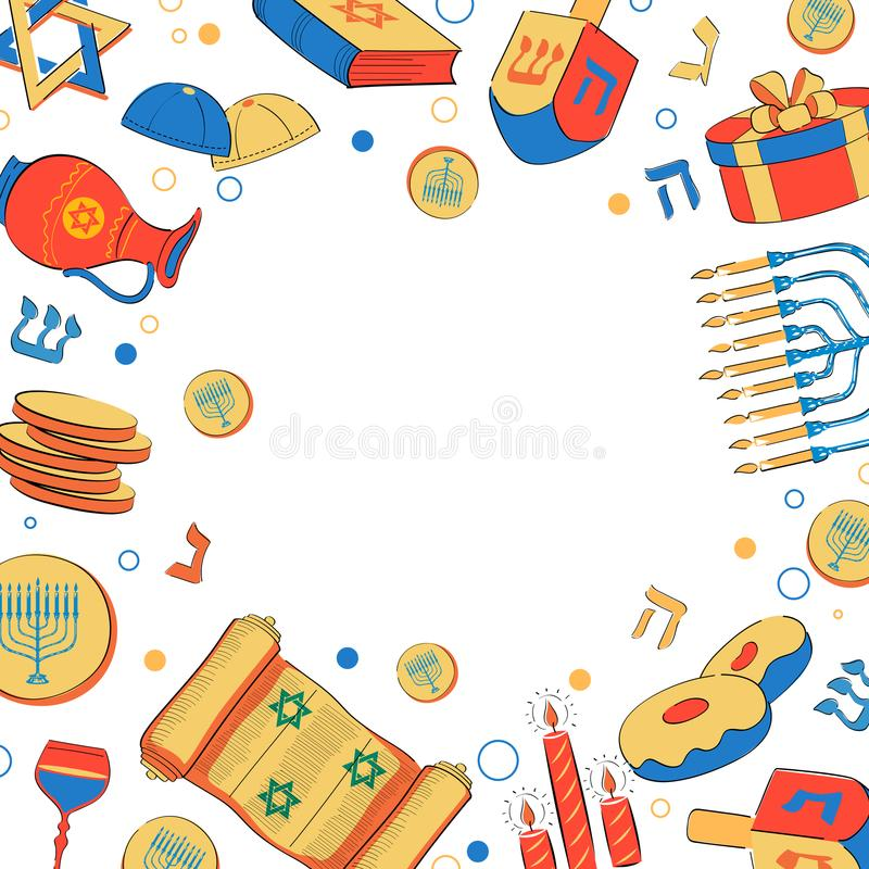 Glückliches Chanukka, jüdischer Feiertagshintergrund stock abbildung