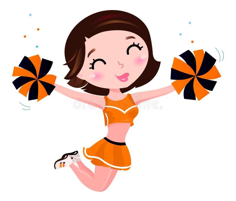 Glückliches Cheerleadermädchen stock abbildung