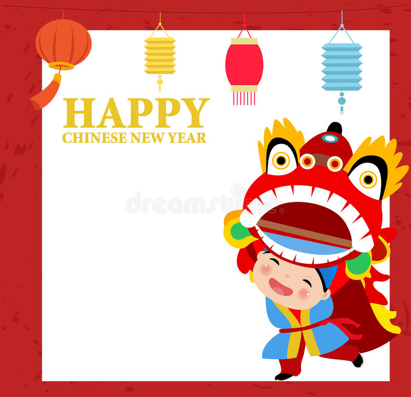 Glückliches chinesisches neues Jahr Lion Dance vektor abbildung