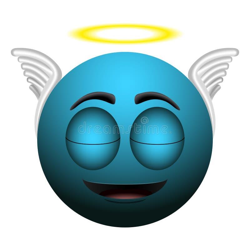 Glückliches Engel emoji lizenzfreie abbildung