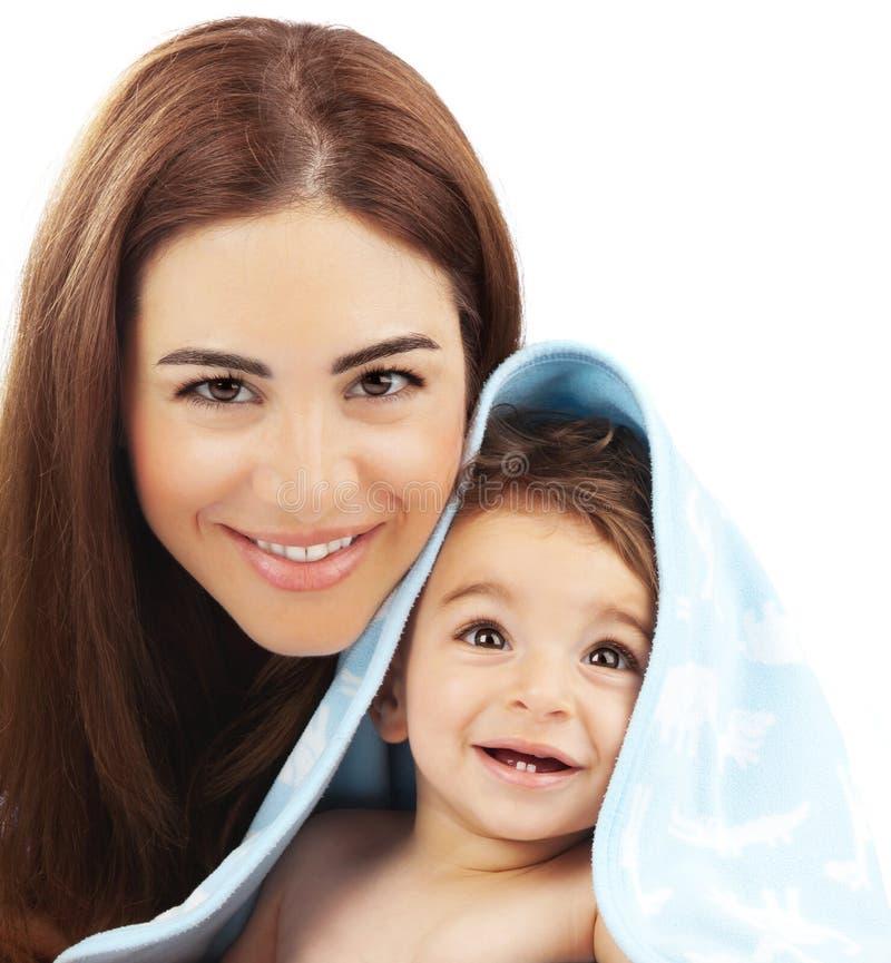 Glückliches Familienporträt stockfotos