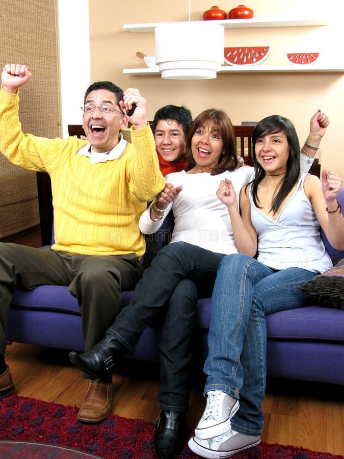 Glückliches Familienportrait lizenzfreies stockfoto