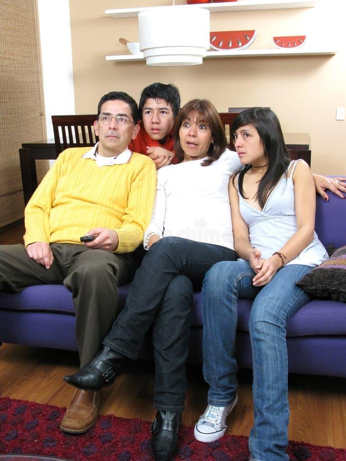 Glückliches Familienportrait stockbild
