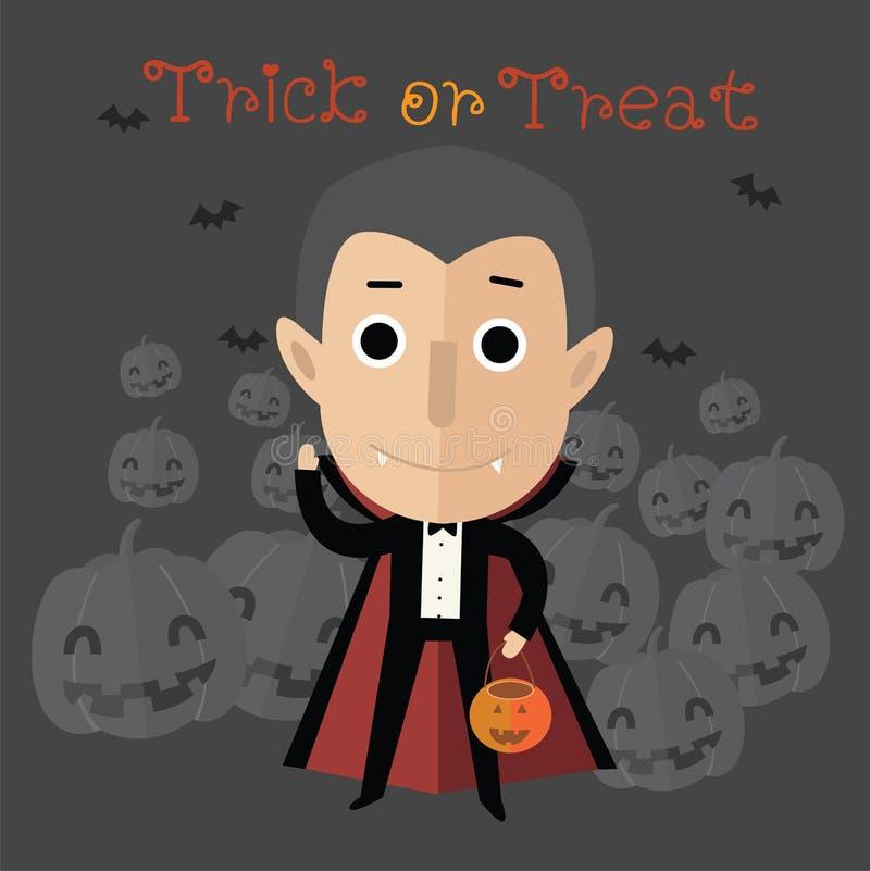 Glückliches Format Halloweens eps10 lizenzfreie abbildung