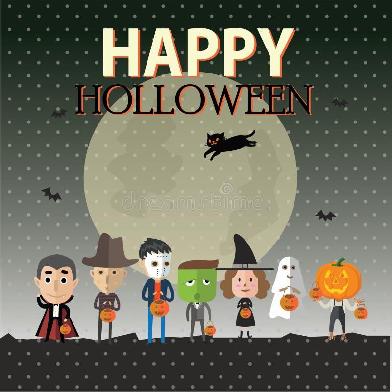 Glückliches Format Halloweens eps10 stock abbildung