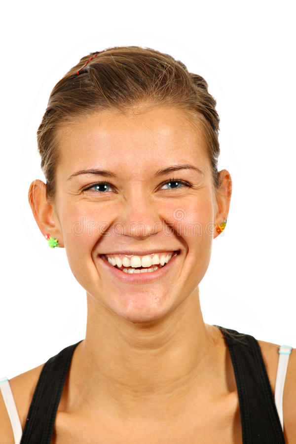 Glückliches Frauengesicht lizenzfreie stockfotos