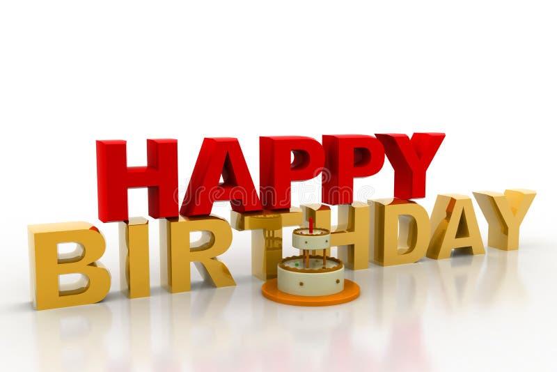Glückliches Geburtstageskonzept lizenzfreie abbildung
