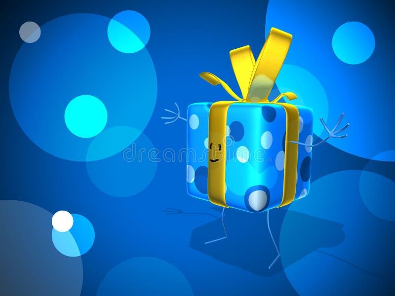 Glückliches Geschenk stock abbildung