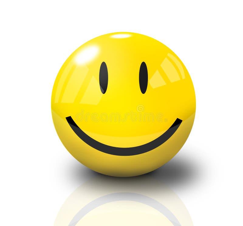 Glückliches Gesicht des smiley-3D lizenzfreie abbildung
