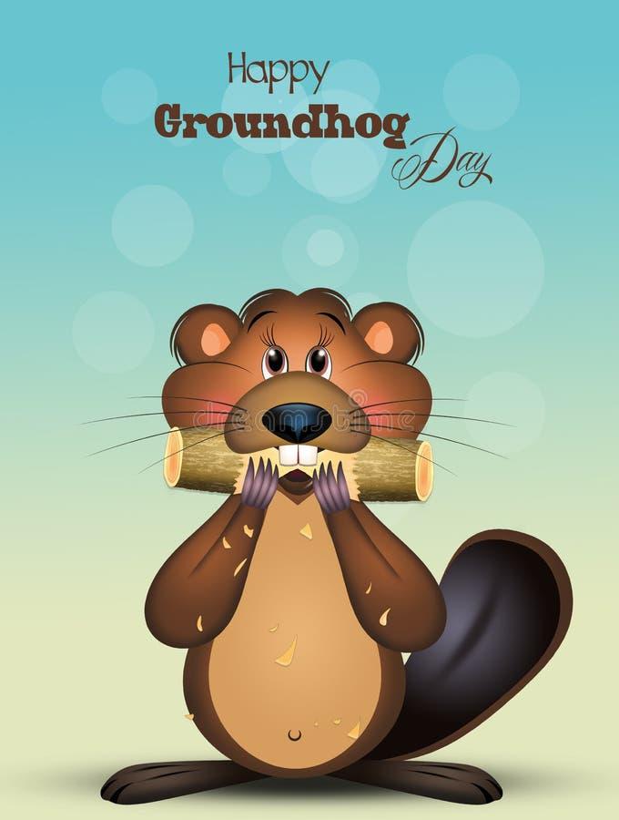 Glückliches Groundhog Day lizenzfreie abbildung