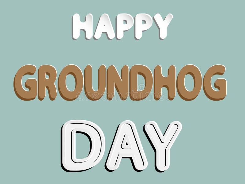 Glückliches Groundhog Day stock abbildung