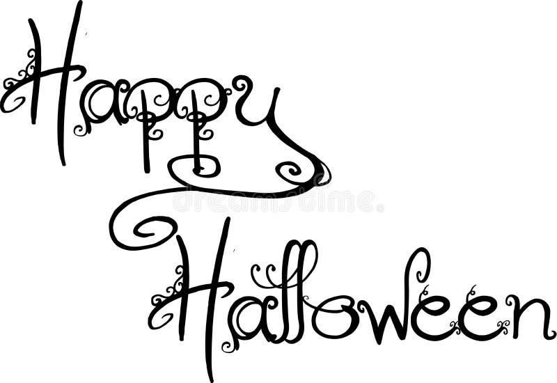 Glückliches Halloween lizenzfreie abbildung