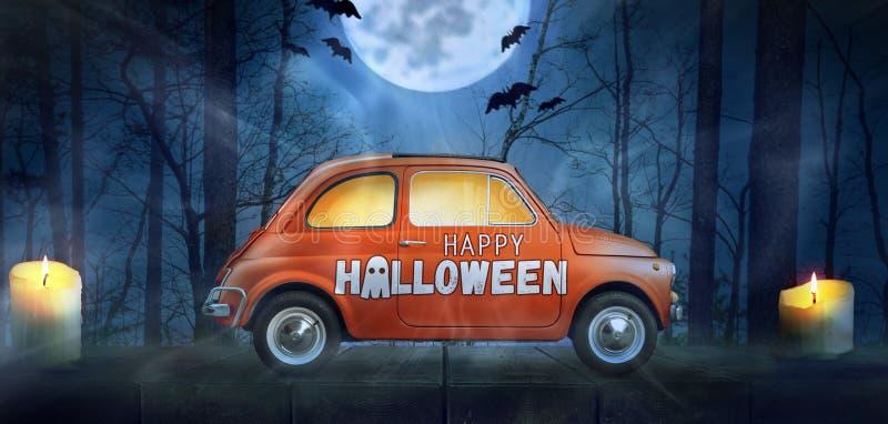 Glückliches Halloween-Auto stockfoto