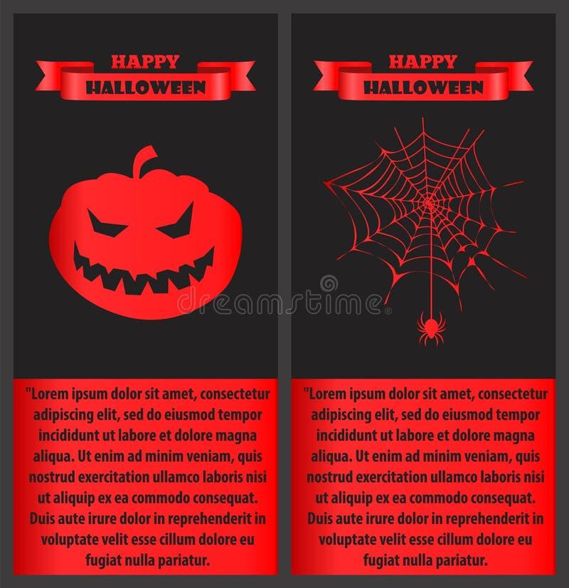 Glückliches Halloween blutig auf Vektor-Illustration stock abbildung
