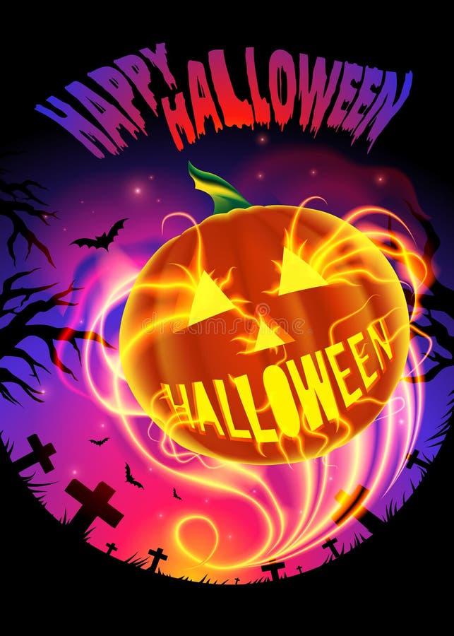 Glückliches Halloween in der Vektor-Kunst lizenzfreie abbildung