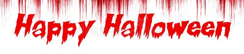 Glückliches Halloween geschrieben auf blutigen Hintergrund stock abbildung