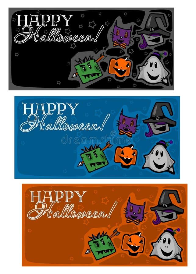 Glückliches Halloween, Hintergründe lizenzfreie abbildung
