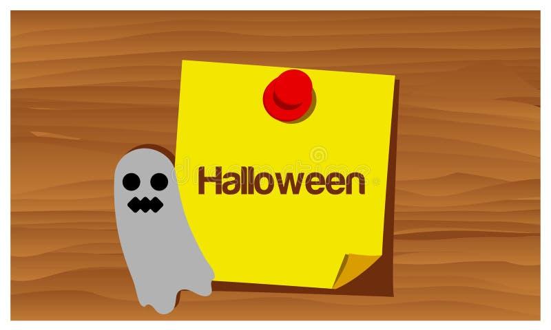 Glückliches Halloween mit Gostvektor Set der lustiger Zeichentrickfilm-Figurfedern und -bleistifts lizenzfreie abbildung