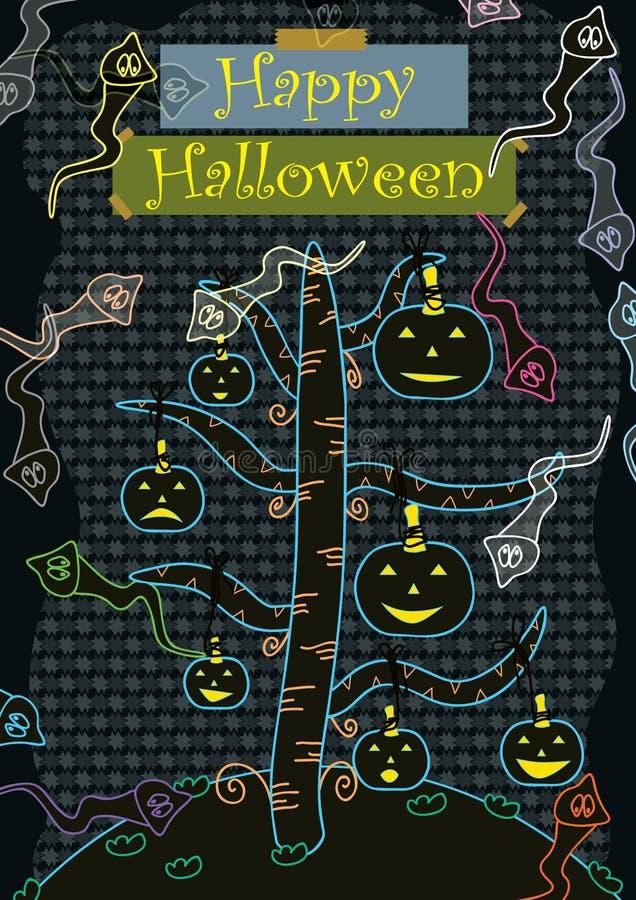 Glückliches Halloween nett stock abbildung