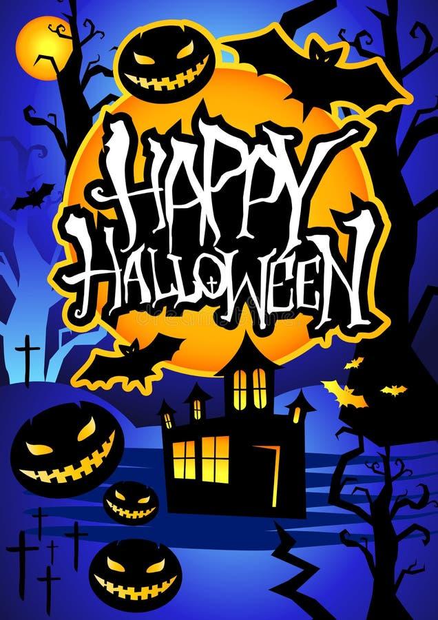 Glückliches Halloween-Plakat stockfotos