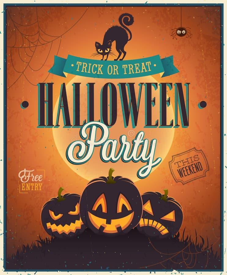 Glückliches Halloween-Plakat. vektor abbildung