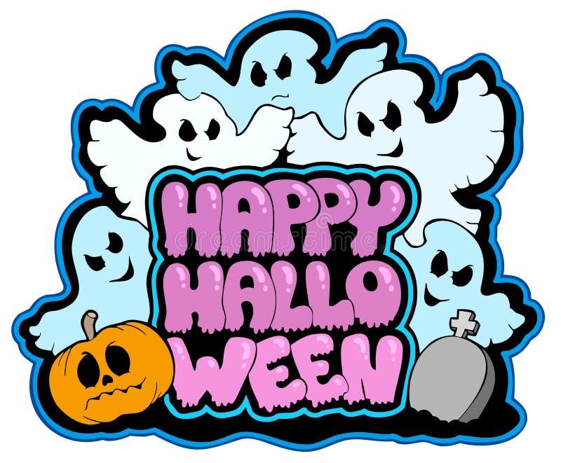 Glückliches Halloween-Thema 3 lizenzfreie abbildung