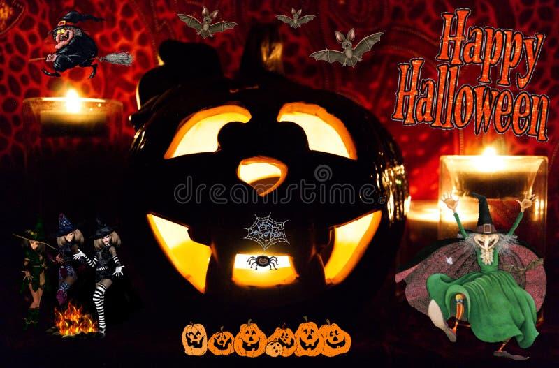 Glückliches Halloween zu auf der ganzen Erde stockfoto