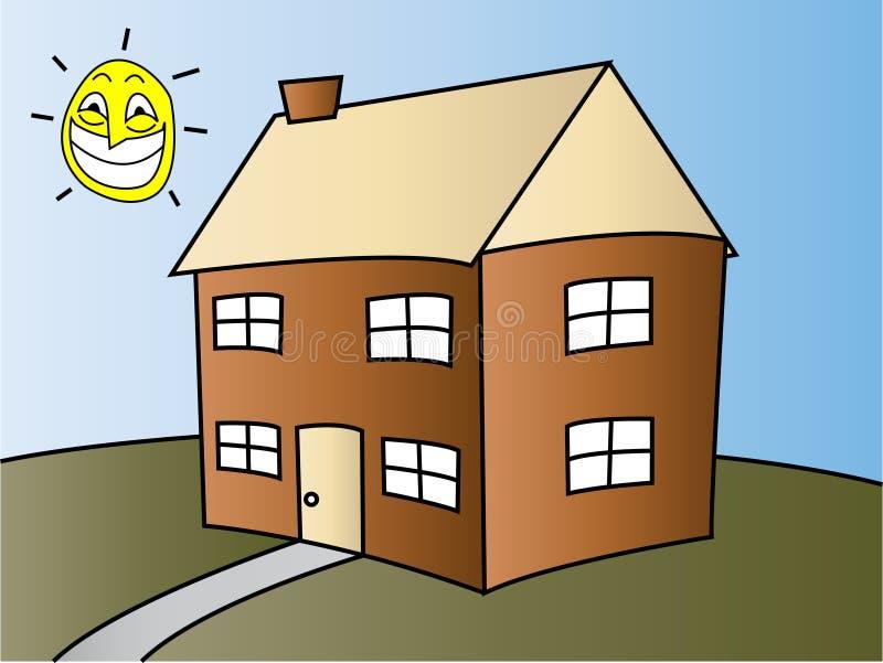 Glückliches Haus stock abbildung