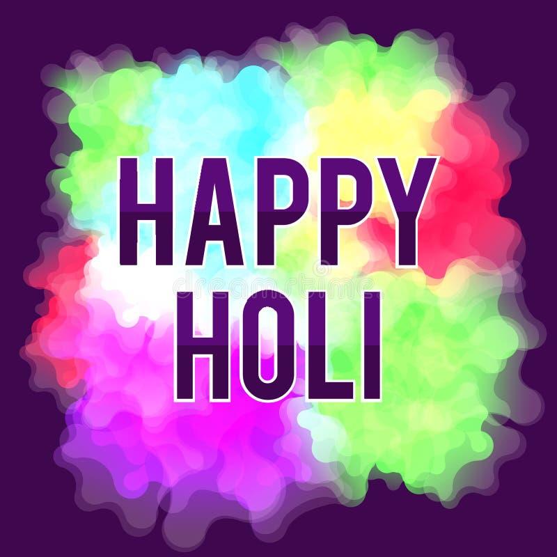 Glückliches Holi-Frühlingsfest Bunter Hintergrund für die Feiertagsfarben Abstraktes Muster lizenzfreie abbildung