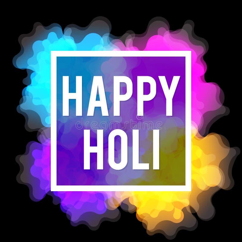 Glückliches Holi-Frühlingsfest Bunter Hintergrund für die Feiertagsfarben Abstraktes Muster vektor abbildung
