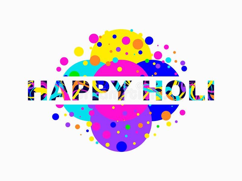 Glückliches Holi Indisches Festival von Farben Hintergrund für Grußkarte, -fahne und -plakat Vektor stock abbildung