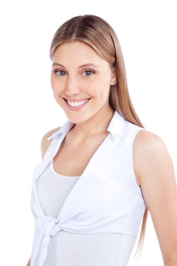Glückliches junge Frauen-Porträt lizenzfreie stockfotos