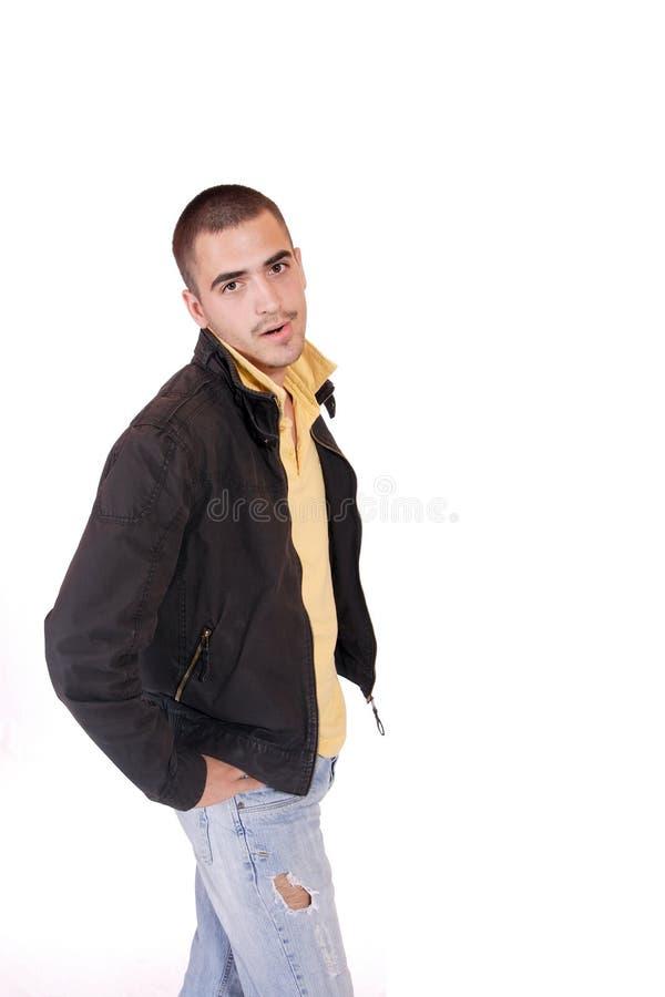 Glückliches junges beiläufiges Mannportrait stockfoto