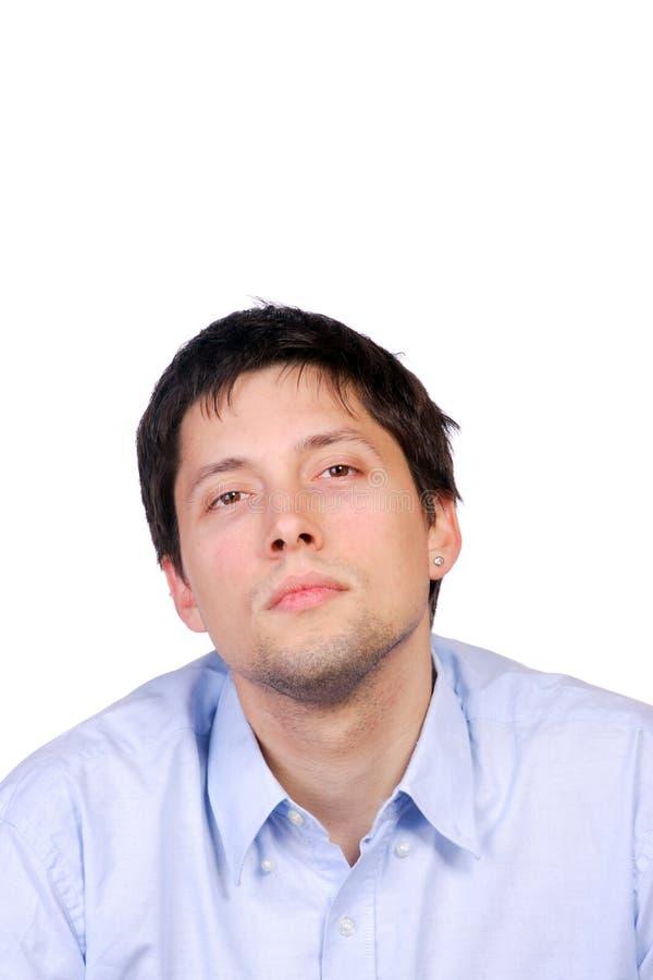 Glückliches junges beiläufiges Mannportrait stockbild