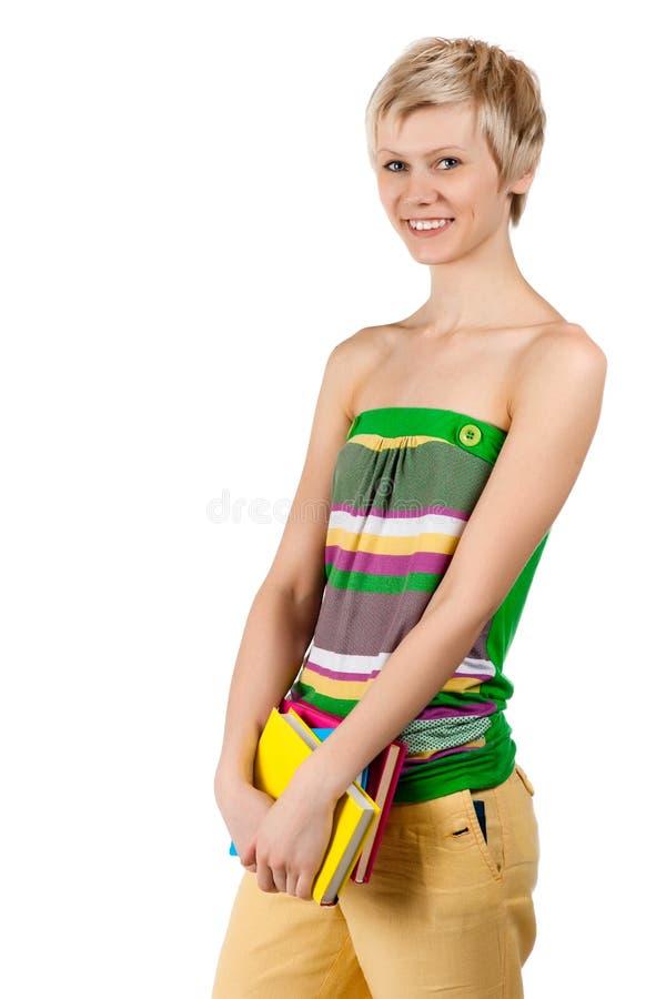 Download Glückliches Junges Kursteilnehmermädchen Stockfoto - Bild von konzept, schön: 26366898