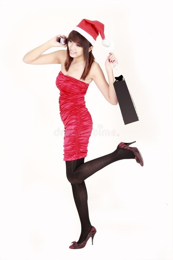 Glückliches kaufensankt-Mädchen lizenzfreies stockfoto