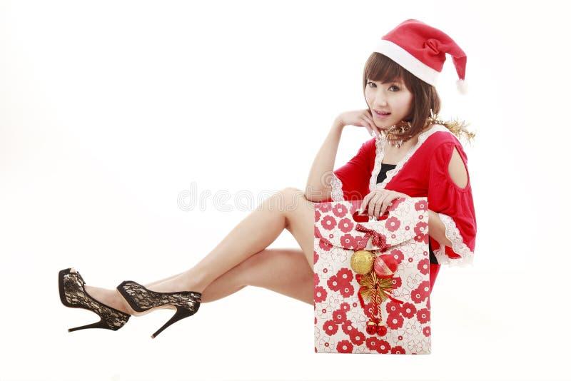 Glückliches Kaufensankt-Mädchen Lizenzfreie Stockfotos