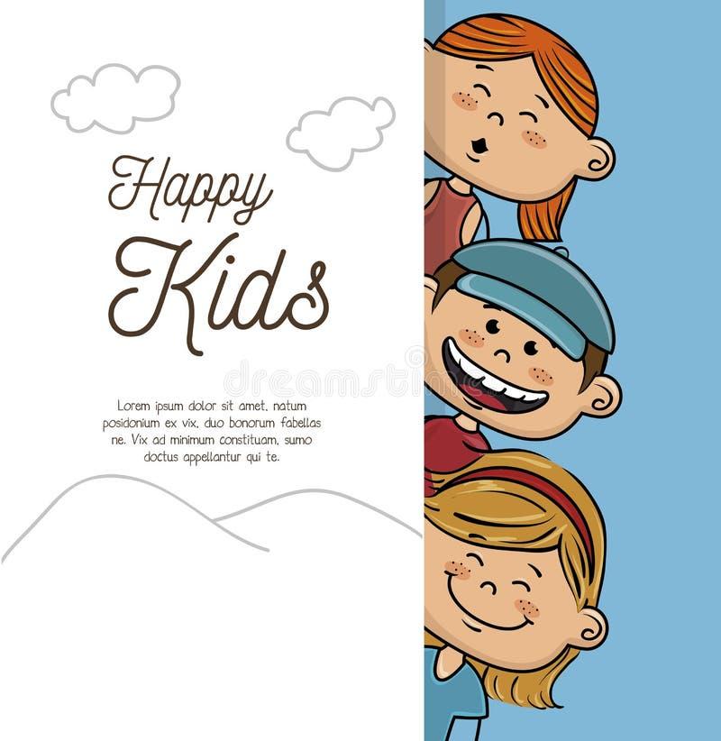 Glückliches Kinderdesign lizenzfreie abbildung