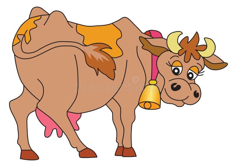 Glückliches Kuh-Lächeln stock abbildung