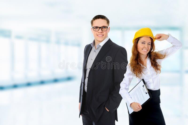 Glückliches lächelndes Geschäftsteam lizenzfreies stockbild