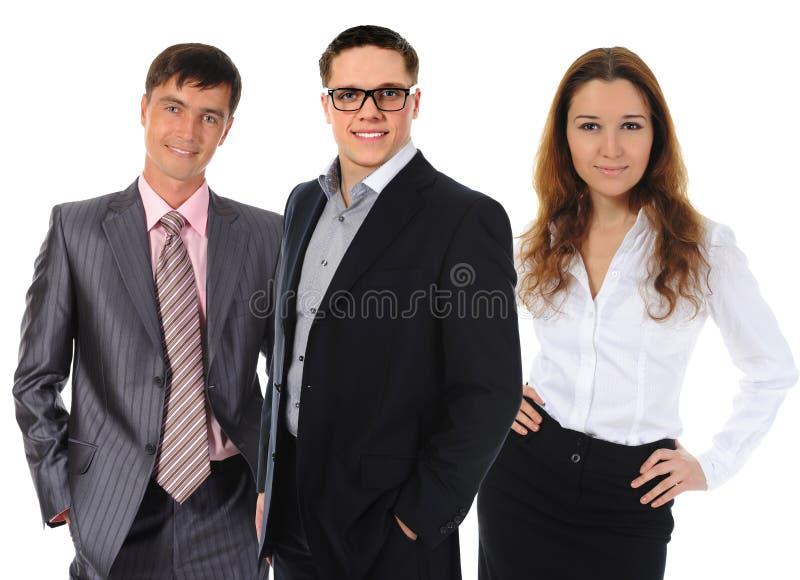 Glückliches lächelndes Geschäftsteam lizenzfreies stockfoto