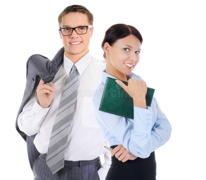 Glückliches lächelndes Geschäftsteam lizenzfreie stockfotografie