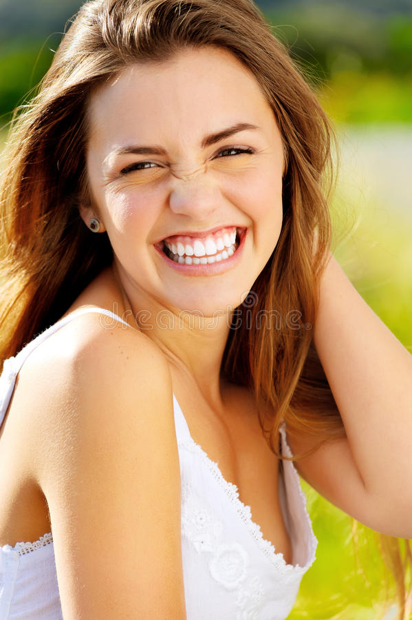 Glückliches Lachen lizenzfreies stockfoto