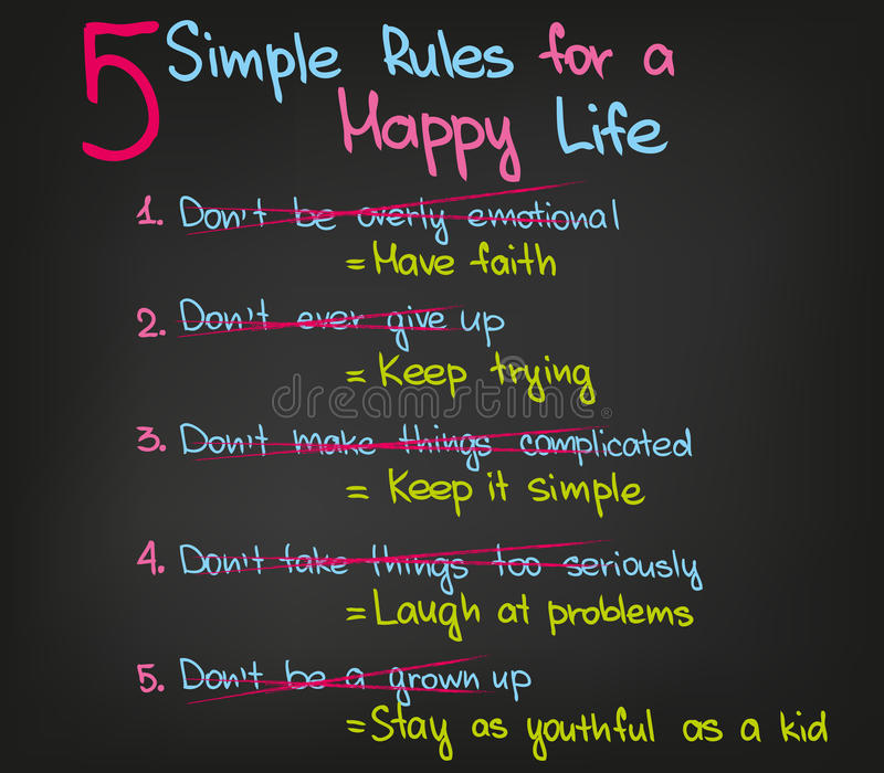Glückliches Leben vektor abbildung