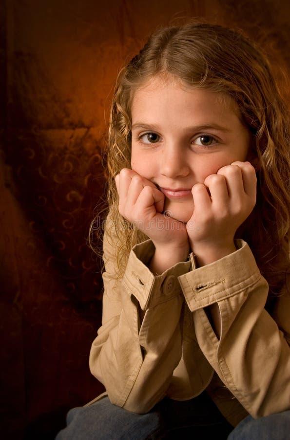 Glückliches Mädchen stockfotografie