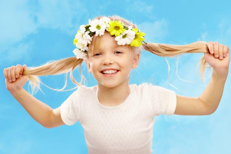 Glückliches Mädchen lizenzfreies stockbild